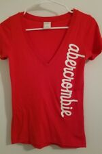 """ABERCROMBIE & FITCH """"KIDS"""" Red Graphic T Shirt Knit Top Girls Sz S EUC"""