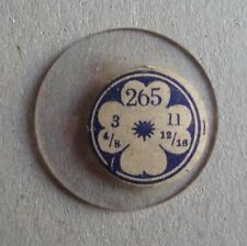 VUS OPEN FACE Pocket Watch Glass Crystal NOS Cristal Vetro Verre 265 11 linge
