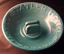 Vintage STATLER HOTEL Green China Ashtray Match Holder