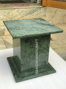 "18""H 15"" Green Marble Table Top Stand Precious Newyear Eve Home Decor E566"