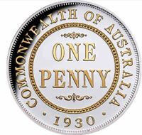 2020 PENNY 1930  90th Anniversary Gilded 1oz Silver Proof Coin