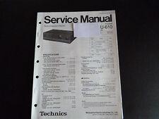 Original Service Manual  Technics Amplifier SU-610