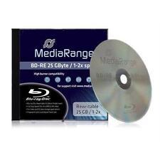 5 x MediaRange Blu-ray BD-RE 25 GB 1-2x JewelCase MR491