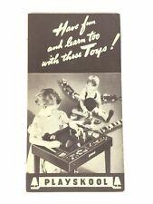 1940 Vintage Playskool Toys Brochure Catalog