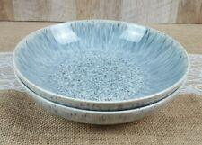 DENBY HALO SPECKLE BOWL PASTA SALAD VEGETABLE BLUE GRAY ENGLAND SET OF 2