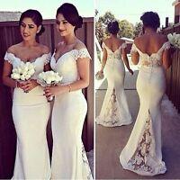 Weiß / Elfenbein Mermaid Hochzeitskleid Garten Brautkleid Kurzarm  V-Ausschnitt