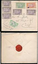 FRENCH IVORY COAST 1920 ELDER DEMPSTER LINE ENVELOPE EMBOSSED FLAP + ANCHOR SEAL