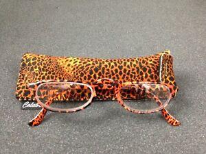 WomenLeopard Print Compact Reading Glasses Reader Eyewear 3.50