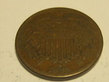 1865 Two Cent Piece ERROR ROTATED DIE 170 DEGREES