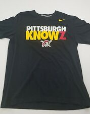 Nike Pittsburgh Pirates shirt MLB BLACK Baseball Sz Large Pittsburgh Knows Logo