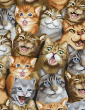Fat Quarter Selfie Cats Cotton Quilting Sewing Fabric