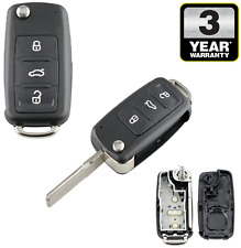 3 Button Remote Key Fob Shell Case For VW Volkswagen Golf MK6 Polo Beetle Caddy