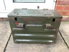 More details for vintage army metal storage box cb ltd battery storage - collectable rare
