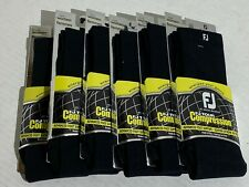 FootJoy Women's FJ Tour Compression Sport Hi-Crew Socks (6-Pack) Black Sz 6-9