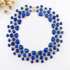 Con Estilo Statement Collar Oro Azul Estilo BLOGGER vintage retro MUJER