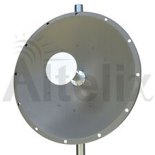 Altelix 5GHz 30dBi Dual Polarized WiFi 2x2 MIMO Parabolic Dish Antenna 4.9-6 GHz