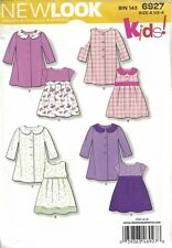 Toddler Girls Dresses & Matching Coats New Look Easy 6927 Sizes 1/2 - 4 Uncut