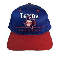 Vintage MLB Texas Rangers Wool Adjustable Hat Sports Baseball Flat Bill
