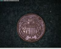 1865 Two Cent Civil War Coin ( # 75s125 )