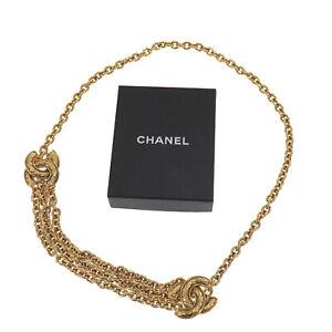 CHANEL CC Logos Gold Chain Waist Belt 6051 France Vintage Authentic #AC323 O