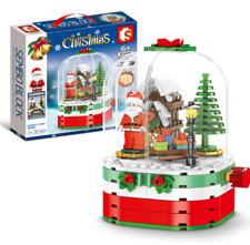 Bausteine Weihnachtsmann Schneehaus Licht Weihnachtsgeschenk Spielze Modell