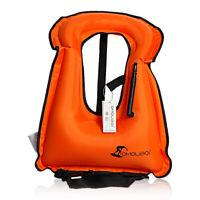 Inflatable Swim Vest Life Jacket for Snorkeling Floating Device Swimming Saving