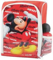 Official Disney Mickey Mouse Kids School Lunch Bag Kit Includes Water Bottle