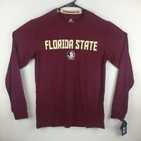 Florida State Seminoles FSU T-Shirt Colosseum Long Sleeve Color Garnet Polyester