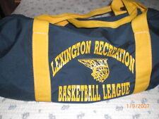Vintage Lexington Mass Recreation basketball league sports bag blue and yellow