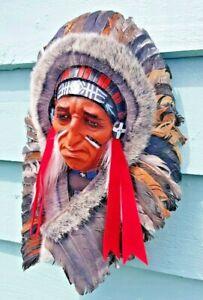 NATIVE AMERICAN DECORATIVE HEAD DRESS (WALL HANGING)