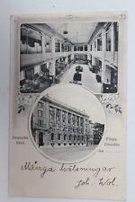 29662 AK DRESDEN ALTSTADT Deutsche Bank Filiale innen und außen 1908