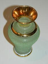 vintage ANCIEN vase DORE gold or GLASS glas VASO