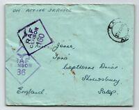 GB 1945 RAF Censor Cover / Nairobi Kenya Base  - Z13623