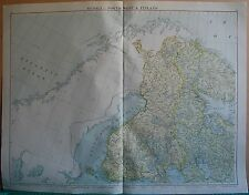 1919 LARGE MAP- EUROPE-RUSSIA NORTH WEST & FINLAND