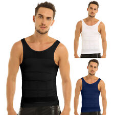 Men's Abdomen Muscle Body Slimming Tummy Shaper Vest Shirt Underwear Shapewear