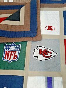 Pottery Barn NFL Football TEAM LOGO Twin Sheet Set {Flat/Fitted/Pillow/ QUILT