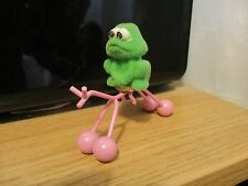 """Vintage small dolls house """" novellty toy frog with metal pink horse."""""""