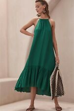 WITCHERY LIMITED EDITION GREEN SUMMER MAXI DRESS NEW WITH TAGS SIZE 14