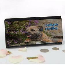 Personalised Border Terrier Dog Pup Ladies Large Money Coin Purse Mum Gift ST020