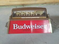 Vintage Budweiser Pool Table Light 1986 Vgc