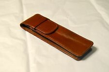 Brown Genuine Leather Leather Pen Case Pouch Holder