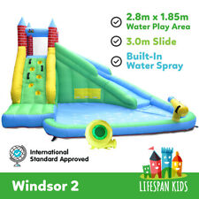Inflatable Water Jumping Castle Bouncer Toy Windsor Slide &Splash lifespan kids