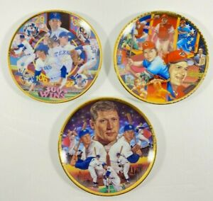 Sports Impressions Sports Superstar Collector Plate Series Lot Of 3 Mantle, Ryan