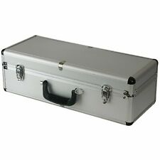 More details for large hard aluminium flight case silver telescope dj van boot rc helicopter box