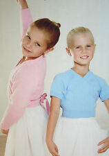Girls Long and Short Sleeved Wrap Around Ballet Tops Knitting Pattern