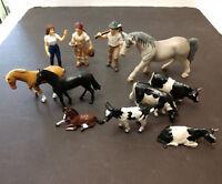 Vintage Schleich & Britain Horses Cows Toys Animals Figures