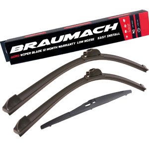Front Rear Wiper Blades for Jeep Grand Cherokee WK WK2 SUV 6.4 SRT8 4x4 2011-201