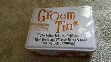 Wedding Groom Storage Tin-unused