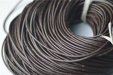 2Yards Brown PU Leather Cord Thread Wire Craft DIY Jewelry Findings 2Sizes