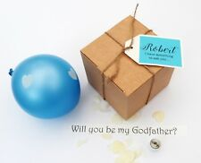 'WILL YOU BE MY' PERSONALISED BLUE BALLOON PROPOSAL, GODFATHER, BEST MAN, USHER
